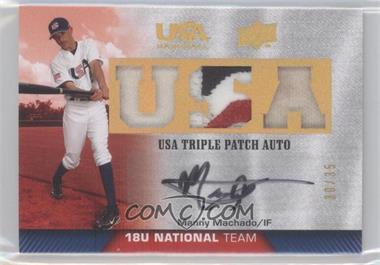 2009 Upper Deck USA Baseball Box Set Triple Patch Autograph 18U National Team #TPA18U-MM - Matt Maloney /35