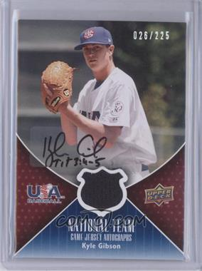 2009 Upper Deck USA National Team Game Jersey Autographs [Autographed] #USA-KG - Kyle Gibson /225