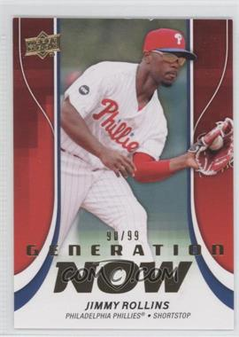 2009 Upper Deck Update Series 1 & 2 Fat Packs Generation Now Gold #GN26 - Jimmy Rollins /99