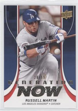 2009 Upper Deck Update Series 1 & 2 Fat Packs Generation Now Gold #GN44 - Russell Martin /99