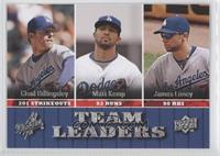 Chad Billingsley, Matt Kemp, James Loney