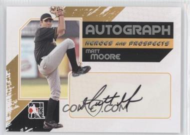 2010-11 In the Game Heroes and Prospects Autograph In Action Silver [Autographed] #A-MM - Matt Moore