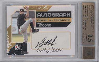 2010-11 In the Game Heroes and Prospects Autograph In Action Silver [Autographed] #A-MM - Matt Moore [BGS9.5]