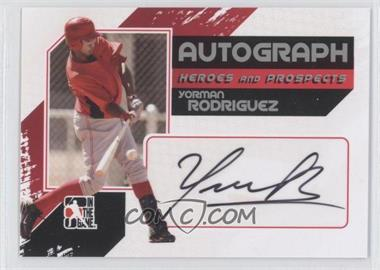 2010-11 In the Game Heroes and Prospects Autograph In Action Silver [Autographed] #A-YR - Yorman Rodriguez