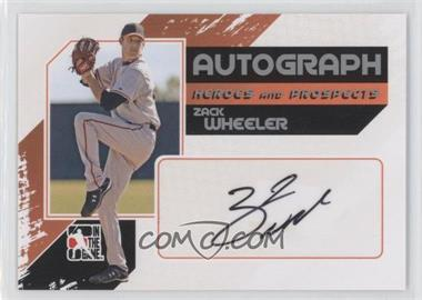 2010-11 In the Game Heroes and Prospects Autograph In Action Silver [Autographed] #A-ZW - Zack Wheeler