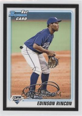 2010 Bowman - Wrapper Redemption Prospects - Black #BP39 - Edinson Rincon