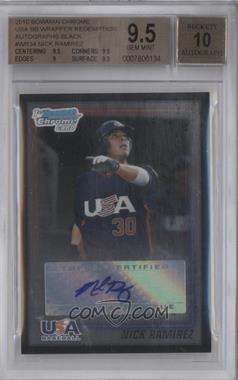 2010 Bowman - Wrapper Redemption USA Certified Autographs - Black #WR34 - Nick Ramirez /25 [BGS9.5]