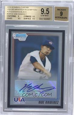 2010 Bowman - Wrapper Redemption USA Certified Autographs - Black #WR35 - Noe Ramirez /25 [BGS 9.5]