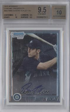 2010 Bowman Chrome - Prospects - Autographs [Autographed] #BCP89 - Dustin Ackley [BGS9.5]