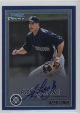 2010 Bowman Chrome - Prospects - Blue Refractor Autographs [Autographed] #BCP182 - Alex Liddi /150