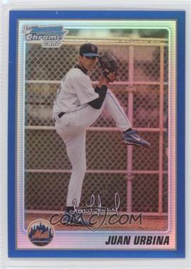 2010 Bowman Chrome - Prospects - Blue Refractor #BCP220 - Juan Urbina /150