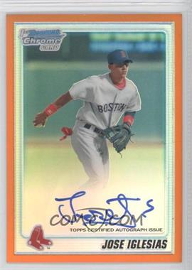 2010 Bowman Chrome - Prospects - Orange Refractor Autographs [Autographed] #BCP108 - Jose Iglesias /25
