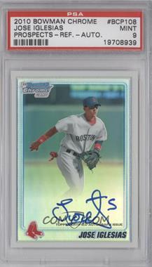 2010 Bowman Chrome - Prospects - Refractor Autographs [Autographed] #BCP108 - Jose Iglesias /500 [PSA9]