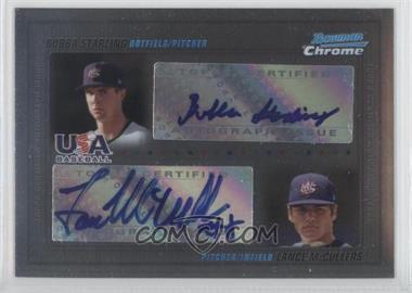 2010 Bowman Chrome - USA Dual Autographs #USADA-1 - Bubba Starling, Lance McCullers /500