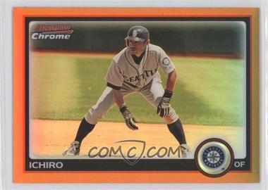 2010 Bowman Chrome Orange Refractor #129 - Ichiro Suzuki /25