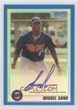 2010 Bowman Chrome Prospects Blue Refractor Autographs [Autographed] #BCP205 - Miguel Sano /150
