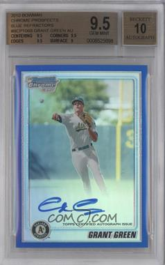 2010 Bowman Chrome Prospects Blue Refractor #BCP106 - Grant Green /150 [BGS 9.5]