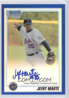 2010 Bowman Chrome Prospects Blue Refractor #BCP112.2 - Jefry Marte /150