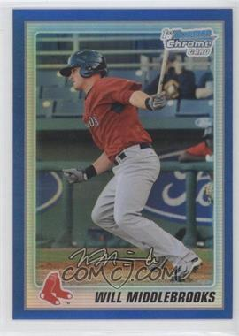 2010 Bowman Chrome Prospects Blue Refractor #BCP179 - Will Middlebrooks /150