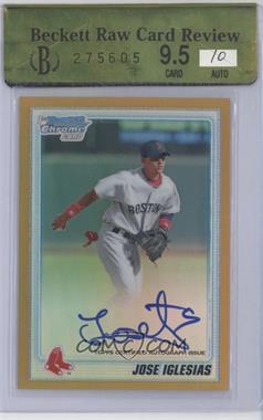 2010 Bowman Chrome Prospects Gold Refractor Autographs [Autographed] #BCP108 - Jose Iglesias /50 [ENCASED]