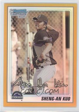 2010 Bowman Chrome Prospects Gold Refractor #BCP52 - Sheng-An Kuo /50