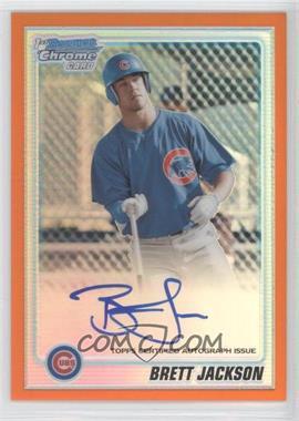 2010 Bowman Chrome Prospects Orange Refractor Autographs [Autographed] #BCP93 - Brett Jackson /25