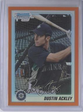 2010 Bowman Chrome Prospects Orange Refractor #BCP89 - Dustin Ackley /25