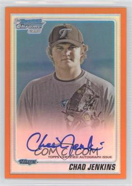 2010 Bowman Chrome Prospects Orange Refractor #BCP94 - Chad Jenkins /25