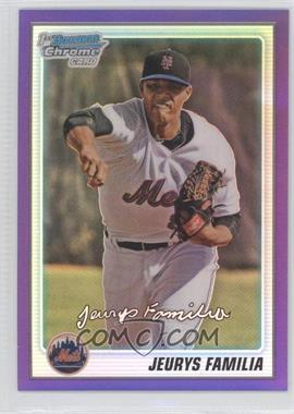 2010 Bowman Chrome Prospects Purple Refractor #BCP197 - Jeurys Familia /899