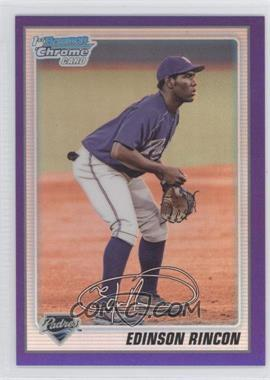 2010 Bowman Chrome Prospects Purple Refractor #BCP39 - Edinson Rincon /999