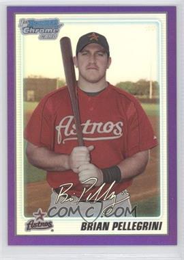 2010 Bowman Chrome Prospects Purple Refractor #BCP65 - Brian Pellegrini /999
