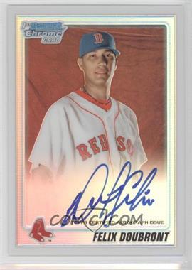 2010 Bowman Chrome Prospects Refractor Autographs [Autographed] #BCP102 - Felix Doubront /500