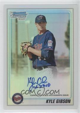 2010 Bowman Chrome Prospects Refractor Autographs [Autographed] #BCP202 - Kyle Gibson /500