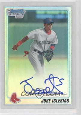 2010 Bowman Chrome Prospects Refractor #BCP108.2 - Jose Iglesias (Autograph) /500