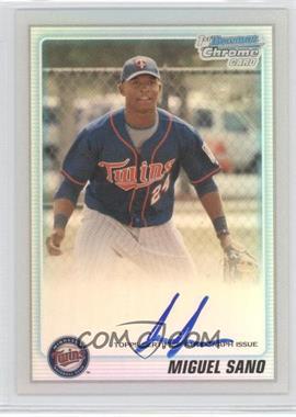 2010 Bowman Chrome Prospects Refractor #BCP205.2 - Miguel Sano (Autograph) /500