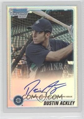 2010 Bowman Chrome Prospects Refractor #BCP89.2 - Dustin Ackley (Autograph) /500