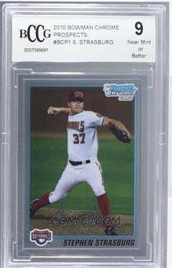 2010 Bowman Chrome Prospects #BCP1 - Stephen Strasburg [ENCASED]