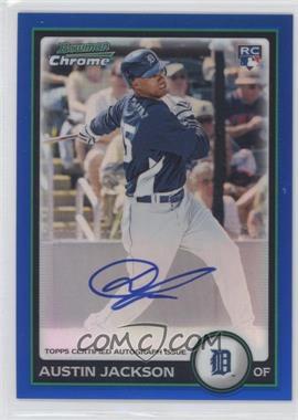 2010 Bowman Chrome Rookie Autographs Blue Refractor #198 - Austin Jackson /250