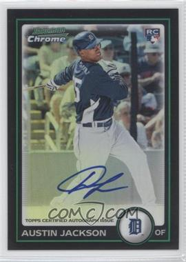 2010 Bowman Chrome Rookie Autographs Refractor #198 - Austin Jackson /500