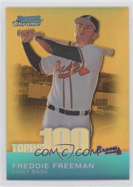 2010 Bowman Chrome Topps 100 Prospects Gold Refractor #TPC24 - Freddie Freeman /50