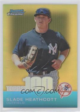 2010 Bowman Chrome Topps 100 Prospects Gold Refractor #TPC50 - Slade Heathcott /50
