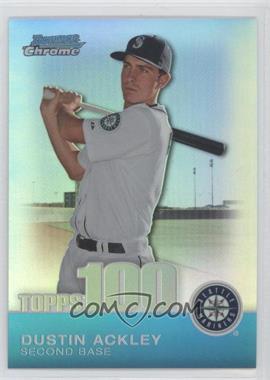 2010 Bowman Chrome Topps 100 Prospects Refractor #TPC21 - Dustin Ackley /499