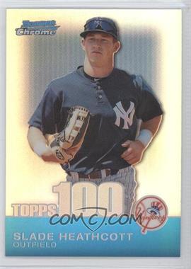 2010 Bowman Chrome Topps 100 Prospects Refractor #TPC50 - Slade Heathcott /499