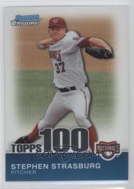 2010 Bowman Chrome Topps 100 Prospects #TPC1 - Stephen Strasburg /999
