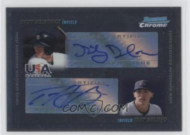2010 Bowman Chrome USA Dual Autographs #USADA-3 - Nicky Delmonico, Tony Wolters /500