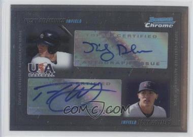 2010 Bowman Chrome USA Dual Autographs #USADA-3 - Tony Wolters /500