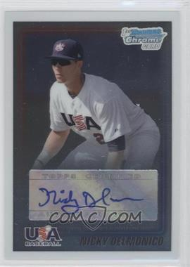 2010 Bowman Chrome USA Stars Autographs [Autographed] #USA-ND - Nicky Delmonico