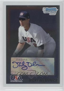 2010 Bowman Chrome USA Stars Autographs [Autographed] #USA-ND - Nicky Delmonico