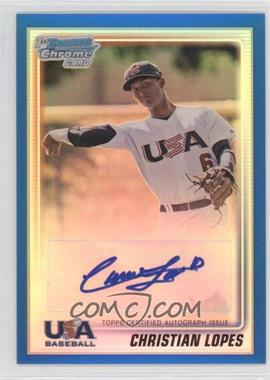 2010 Bowman Chrome USA Stars Blue Refractors Autographs [Autographed] #USA-CL - Christian Lopes /99