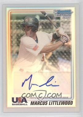 2010 Bowman Chrome USA Stars Refractors Autographs [Autographed] #USA-ML - Marcus Littlewood /199